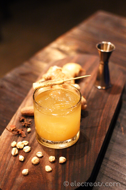 Smokey Ginger - IDR 95K  One of their Signature Cocktails. The best one among the drinks here. It's a mix of Whiskey, Single Malt, honey, ginger, and lime. A must-try.
