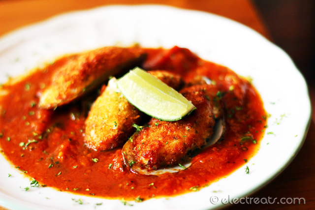 Stuffed Mussels - IDR 35K  A must-try.