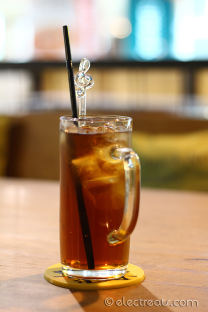 Iced Tea - IDR 15K  Stirred, not shaken, with a note (no pun intended).