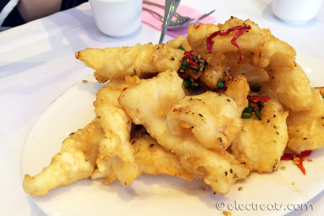 Deep Fried Squid in Spicy Salt - $12.60  A must-try.