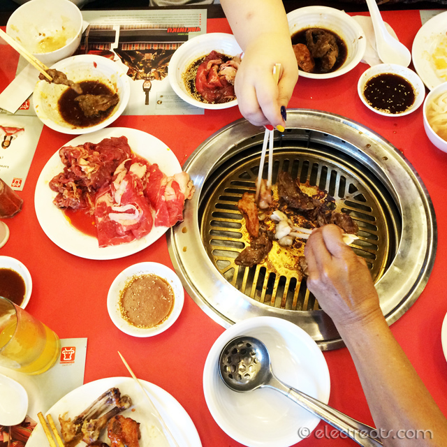 Grill, grill, grill!!  With IDR 165K nett, you could enjoy both Yakiniku (Japanese BBQ) and Shabu-Shabu (Japanese Steamboat, roughly), a limited selection of drinks, and desserts. Recommended to go with friends and family.