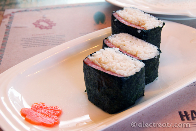 Ono Musubi - IDR 25K  This is a must-try Hawaiian classic: Spam Sushi!