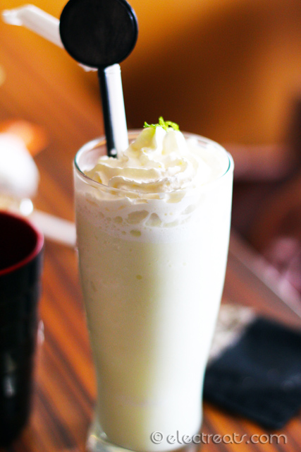 Wasabi Shake - IDR 22.5K  My first time drinking a milkshake infused with wasabi (Japanese horseradish). A must-try.