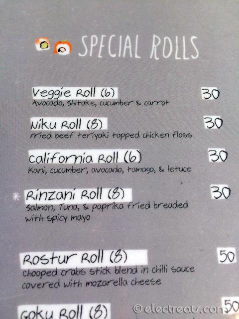 Sushi Menu 01