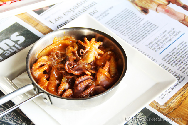Octopus Cometas Style (Typical Octopus Galician Style) a.k.a. Pulpo a la Cometas - IDR 38K  Simply a must-try.