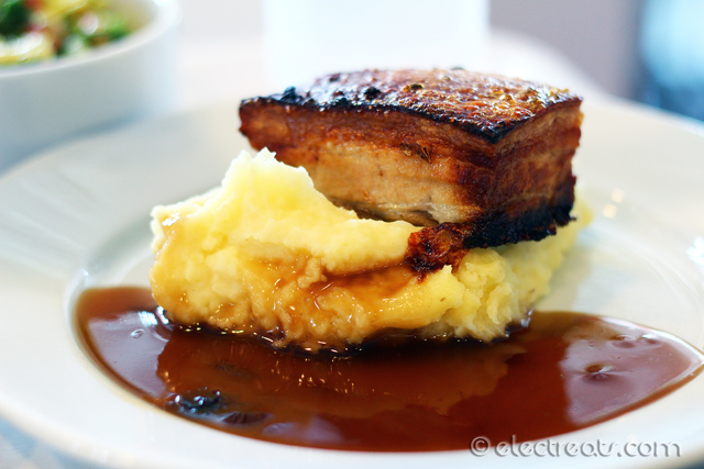 Pork Belly with Mashed Potatoes - $12  The skin was quite crispy but not enough. They've got to learn from the Chinese or Balinese when it comes to crispy pork.