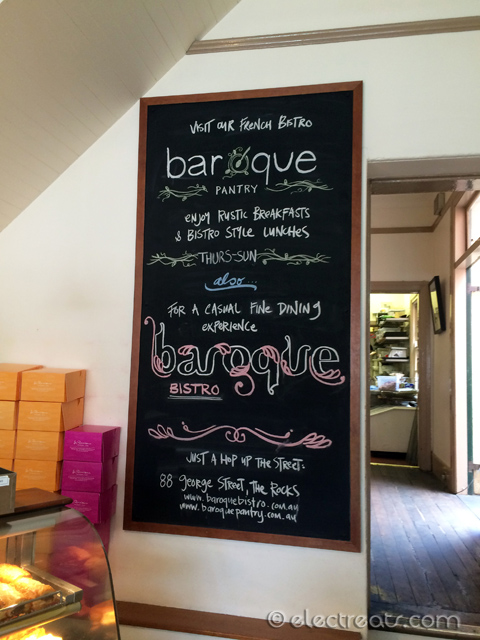 Sign for Baroque Bistro, one of my future posts.