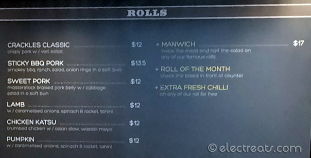 Mr. Crackles Darlinghurst Menu with Prices
